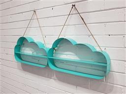 Sale 9121 - Lot 1085 - Pair of cloud form shadow boxes (h:29 x w:33cm)