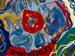 Sale 9191A - Lot 5021 - SIMON MACKLEY (1967 - ) Ancient Design enamel on canvas board 12 x 15 cm (frame: 33.5 x 35 x 2.5 cm) signed
