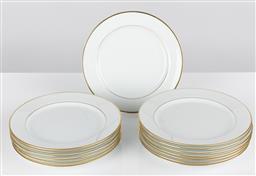 Sale 9255H - Lot 28 - A set of 14 Christofle Albi Or salad/dessert plates, Diameter 21cm.