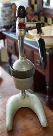 Sale 8320 - Lot 622 - 1920s Cast iron and enamelled bench orange and lemon juicer