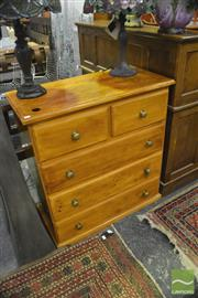 Sale 8398 - Lot 1040 - Timber Chest of Five Drawers