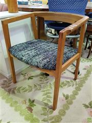 Sale 8629 - Lot 1063 - Modern Timber Framed Tub Chair with Upholstered Seat