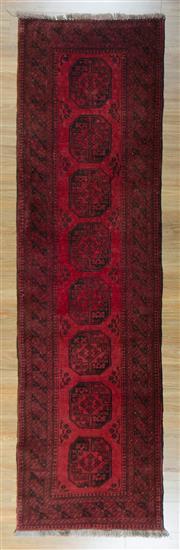 Sale 8653C - Lot 48 - Afghan Qunduzi 284cm x 77cm