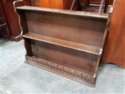 Sale 8697 - Lot 1089 - Oak Open Shelf
