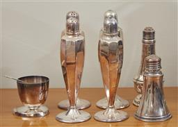 Sale 9098H - Lot 77 - A group of silver plated cruets.