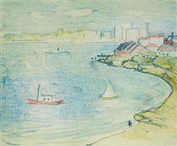 Sale 9125 - Lot 552 - Lloyd Rees (1895 - 1988) - Greenwich Point, 1978 24.5 x 30 cm (frame: 54 x 58 x 2 cm)