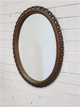 Sale 9154 - Lot 1045 - Oval Mirror (72 x 54cm)