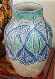 Sale 8320 - Lot 623 - A Pilkington Royal Lancastrian Lapis Ware pottery vase. Decorated by Gladys Rogers and thrown by ET Radford c.1930