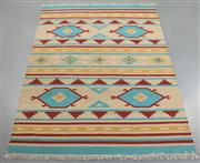 Sale 8438K - Lot 79 - Jaipur Veggie Dye Kilim Rug | 300x200cm, Pure Wool, Handwoven in Rajasthan, India with a pure NZ wool composition. Fully reversible ...