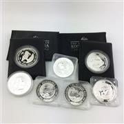 Sale 8618 - Lot 36 - The Australian Kookaburra Proof Issue Silver Coins (7 coins, 1oz each)