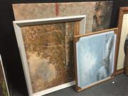 Sale 8707 - Lot 2089A - 3 Works: Taylor - Beach Scene, oil on board, SLR; M.Bird - Cessnock, acrylic on canvas, SLL & Artist Unknown - Abstract, mixed media
