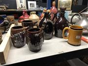 Sale 8802 - Lot 14 - Ceramic Beer Mugs with 2 Similar Musical Jugs