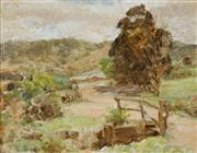 Sale 8901 - Lot 575 - Alice Marian Ellen Bale (1875 - 1955) - At the Entrance (Country Scene) 15 x 20 cm