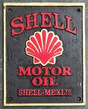 Sale 9034 - Lot 1062 - Cast Iron Shell Sign