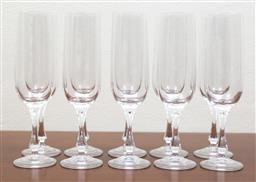 Sale 9140H - Lot 43 - A set of ten champagne flutes, Height 22cm