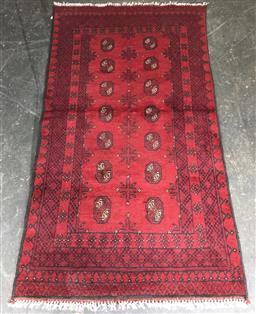 Sale 9146 - Lot 1067 - Hand knotted pure wool Persian turkoman ( 190 x 100cm)