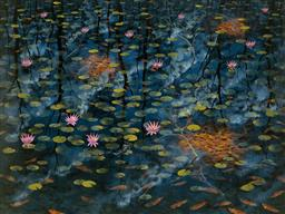 Sale 9174JM - Lot 5012 - LIN ONUS (1948 - 1996) Fish and Lillies, Dingo Springs archival pigment print, ed. 40/499 (unframed/cellophane wrapped with corflute...
