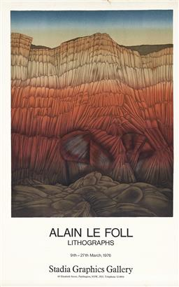 Sale 9212A - Lot 5088 - ALAIN LE FOLL (1934 - 1981) - Exhibition Poster: Stadia Graphics Gallery, 1976 80 x 50 cm, sheet