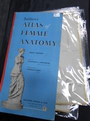 Sale 7943A - Lot 1630 - Baillieres Atlas of Female Anatomy, 5th ed., ill. D.J. Kidd, pub. Bailliere, Tindall & Cox, London; Plus Various Anatomy Drawings