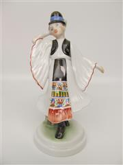 Sale 8402B - Lot 22 - Herend Maiden in Costume Figurine, Hungary