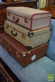 Sale 8542 - Lot 1065 - Three Vintage Suitcases