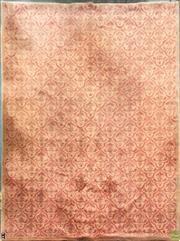 Sale 8637 - Lot 1034 - Large Orange Tone Floral Pattern Rug (363 x 275cm)