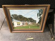 Sale 8702 - Lot 2073 - GV McRoberts - Summer House, Oil On Canvas -