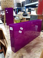 Sale 8839 - Lot 1082 - Pair of Purple Perspex Vases