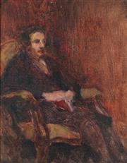 Sale 8929 - Lot 587 - Alice Marian Ellen Bale (1875 - 1955) - Portrait of an Unknown Sitter 25 x 20 cm