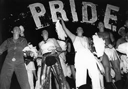 Sale 8912A - Lot 5020 - Dancers, Sydney Gay and Lesbian Mardi Gras Parade (1994), 29 x 20 cm, silver gelatin, Photographer: unknown