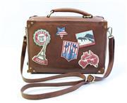 Sale 8997 - Lot 11 - Yoshi Leather Suitcase Handbag, H 25 x L 26 x D 11 cm
