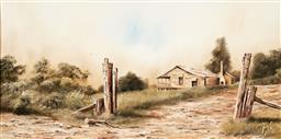 Sale 9133 - Lot 595 - John Guy (1944 - 2000) Tripcony Bight oil on board 29.5 x 60 cm (frame: 45 x 76 x 3 cm) signed lower right