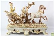 Sale 8603 - Lot 74 - Capodimonte Figural Carriage Piece (Small Chips, L 60cm x H 51cm)