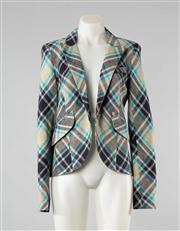 Sale 8740F - Lot 80 - A Smythe, Les Veste linen plaid jacket, size 10