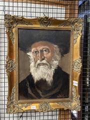 Sale 8927 - Lot 2061 - Weber Gyalo - The Rabbi oil on canvas, 50 x 40cm (frame), signed