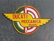 Sale 9034 - Lot 1090 - Cast Iron Ducati Sign