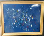 Sale 9058 - Lot 2043 - Artist Unknown; untitled (abstract); oil on board; 57 x 71; signed lower right
