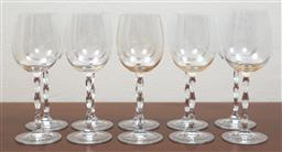 Sale 9140H - Lot 51 - A set of ten white wine glasses, Height 20.5cm