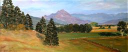 Sale 9191A - Lot 5024 - JOHN KONSTANT (1947 - ) Country New South Wales oil on board 30 x 72 cm (frame: 62 x 102 x 5 cm) signed