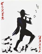 Sale 8492A - Lot 5085 - Mark Hanham (1978 - ) - Joker Pied Piper 45 x 35cm