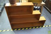 Sale 8289 - Lot 1053 - Timber Stepside Bookcase