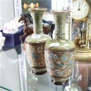 Sale 8336 - Lot 93 - Royal Doulton Pair of Stoneware Vases