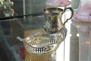 Sale 8340 - Lot 10 - English Hallmarked Sterling Silver Victorian Christening Mug & Pierced Dish (Weight - 123g)