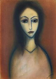 Sale 8374 - Lot 539 - Robert Dickerson (1924 - 2015) - Portrait 36.5 x 26cm