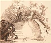 Sale 8716 - Lot 2083 - Adrian Feint (1894 - 1971) - La Surprise 25 x 21cm (sheet: 44.5 x 34.5cm)