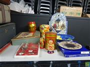 Sale 8582 - Lot 2493 - Ceramics, Mirror, Craft Writing Slope, Cutlery etc