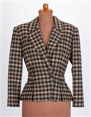 Sale 8640F - Lot 21 - A Dejac Paris 100% wool gingham jacket, size 8-10