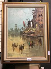 Sale 8726 - Lot 2070 - Artist Unknown - Street Scene, acrylic 37 x30cm -