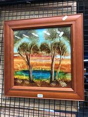 Sale 8819 - Lot 2101 - Petali - Waterhole, oil on board, SLR