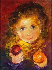 Sale 8881 - Lot 562 - David Boyd (1924 - 2011) - Boy with Fruit 24.5 x 18.5 cm